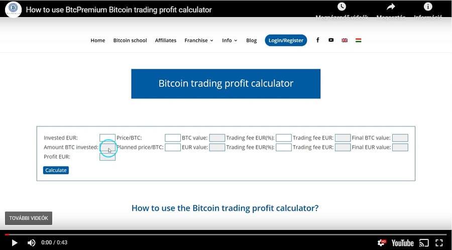 bitcoin calculator de profit pentru investiții